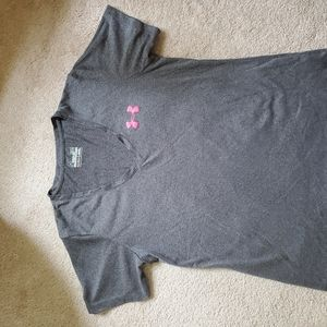 Under Armour pink ribbon t-shirt